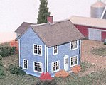 Farm House (Laser-Cut Wood Kit) -- Z Scale Model Railroad Building -- #30005