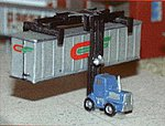 Piggy Stacker Intermodal Lift Crane Set of 2 -- Z Scale Model Railroad Vehicle -- #30017