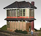 Laser-Cut Wood Kit Alto Tower -- HO Scale Model Railroad Building -- #40002