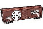 1937 AAR 40' Boxcar ATSF 137277 -- HO Scale Model Train Freight Car -- #21000011