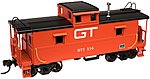 C&O-Style Steel Cupola Caboose Grand Trunk Western -- N Scale Model Train Freight Car -- #50001209