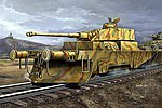 German Panzerjagerwagen Variant II Armored Railcar -- Plastic Model Kit -- 1/35 Scale -- #00369