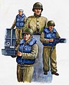 WWII US Navy LCM Crew Figure Set (3) -- Plastic Model Military Figure -- 1/35 Scale -- #00408