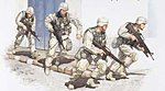 US Army in Iraq 2005 Figure Set (4) -- Plastic Model Military Kit -- 1/35 Scale -- #00418