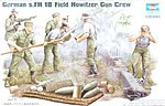 German Field Howitzer Firing Crew Figure Set (5) -- Plastic Model Kit -- 1/35 Scale -- #00425