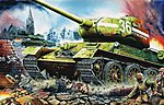 Russian Tank T34/85 1944 Factory No.183 -- Plastic Model Military Vehicle -- 1/16 Scale -- #00902