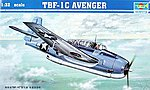 TBF1C Avenger Aircraft -- Plastic Model Airplane -- 1/32 Scale -- #02233