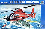 HH65A Dolphin Search + Rescue US Coast Guard Helicopter -- Plastic Model Kit -- 1/48 Scale -- #02801