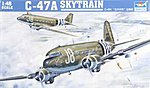 C-47A Skytrain Military Transport Aircraft -- Plastic Model Airplane Kit -- 1-48 Scale -- #02828