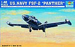 F9F2 Panther US Navy Fighter Aircraft -- Plastic Model Airplane Kit -- 1/48 Scale -- #02832