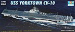 USS Yorktown CV10 Aircraft Carrier -- Plastic Model Military Ship Kit -- 1/700 Scale -- #05729