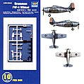 F4F-4 Wildcat Aircraft Carrier Fleet (10) -- Plastic Model Airplane Kit -- 1/350 Scale -- #06202