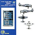 SBD-3 Dauntless Aircraft Carrier Fleet (10) -- Plastic Model Airplane Kit -- 1/350 Scale -- #0620