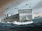WWII LCM(3) US Navy Landing Craft -- Plastic Model Military Ship -- 1/72 Scale -- #07213