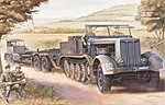 German SdKfz 9 (18t) Halftrack with SdAh116 Trailer -- Plastic Model Kit -- 1/72 Scale -- #07275