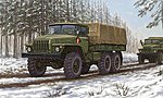 Russian URAL-4320 Truck -- Plastic Model Military Vehicle Kit -- 1/35 Scale -- #1012