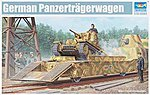 WWII German Panzertragerwagen Tank Transport Flatcar -- Plastic Model Kit -- 1/35 Scale -- #1508