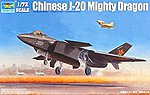 Chinese J20 Fighter Aircraft -- Plastic Model Airplane Kit -- 1/72 Scale -- #1663