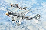 A-6A Intruder Aircraft -- Plastic Model Airplane Kit -- 1/32 Scale -- #2249