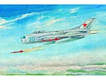 Mig19PM Farmer E Fighter Aircraft -- Plastic Model Airplane Kit -- 1/48 Scale -- #2804