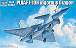 PLAAF J10B Vigorous Dragon Fighter Aircraft -- Plastic Model Airplane Kit -- 1/48 Scale -- #2848