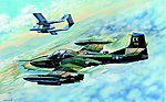 US A-37B Dragonfly Light Ground Attack Aircraft -- Plastic Model Airplane Kit -- 1/48 Scale -- #2889