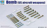 US Aircraft Weapons Set Bombs (26) -- Plastic Model Military Diorama -- 1/32 Scale -- #3307