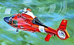 HH-65C Dolphin US Coast Guard Helicopter -- Plastic Model Helicopter Kit -- 1/35 Scale -- #5107