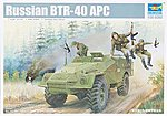 Russian BTR40 Armored Personnel Carrier -- Plastic Model Military Vehicle -- 1/35 Scale -- #5517