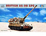 British AS90 Self-Propelled Gun -- Plastic Model Military Vehicle -- 1/72 Scale -- #7221