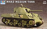 US M4A3 Tank -- Plastic Model Military Vehicle -- 1/72 Scale -- #7224