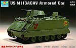 US M113 Armored Cavalry Assault Vehicle -- Plastic Model Military Vehicle -- 1/72 Scale -- #7237