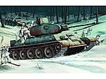 Russian T34/76 Mod 1942 Tank -- Plastic Model Military Vehicle -- 1/16 Scale -- #905