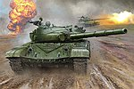 Russian T-72B Mod 1985 Main Battle Tank -- Plastic Model Military Vehicle Kit -- 1/16 Scale -- #924