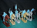 Civil War Cavalry Mounted Figure Playset (6) -- Plastic Model Military Figure -- 1/32 Scale -- #10