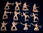 Plains Indian Warriors Figure Playset #2 (12) -- Plastic Model Indian Figure -- 1/32 Scale -- #14