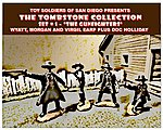 Tombstone Set 1 The Gunfighters Figure Playset (4) -- Plastic Model Military Figure -- 1/32 -- #21