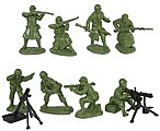1/32 WWII US Infantry Fire Support Figure Playset (16)