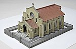 1st Congregational Church Kit -- N Scale Model Railroad Building -- #234838