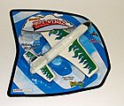 Foam X-Stream Rubber Band Launch Plane (5'' Span) -- Flying Toy -- #74500
