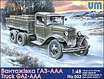 GAZ-AAA WWII Russian Truck -- Plastic Model Military Truck Kit -- 1/48 Scale -- #503