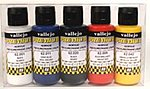 60ml Bottle Metallic Premium Paint Set (5 Colors) -- Hobby and Model Paint Set -- #62103