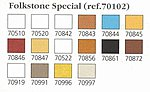 FOLKSTONE SPECIAL SET #2 17ml (16 Paints) -- Hobby and Model Paint Set -- #70102
