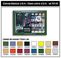 17ml Bottle Basic USA Model Color Paint Set (16 Colors) -- Hobby and Model Paint Set -- #70140