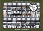 EQUESTRIAN COLORS PAINT SET (16 Colors) -- Hobby and Model Paint Set -- #70144