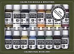 NAVAL STEAM ERA PAINT SET (16 Colors) -- Hobby and Model Paint Set -- #70146