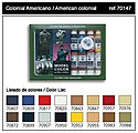 American Colonial Model Color Paint Set (16 Colors) -- Hobby and Model Paint Set -- #70147