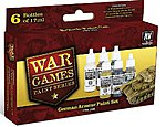 German Armor WWII War Games Paint Set (6 Colors) -- Hobby and Model Paint Set -- #70155