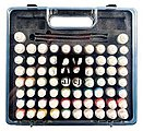Basic Model Paint Set/Plastic Storage Case (72 Colors & Brushes) -- Hobby and Model Paint -- #70172