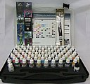 BASIC MODEL COLOR COMBO SET (72 Colors & Brushes) -- Hobby and Model Paint Set -- #70175